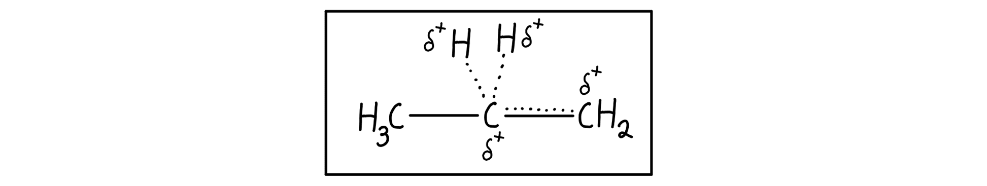 Primary carbocation resonance hybrid
