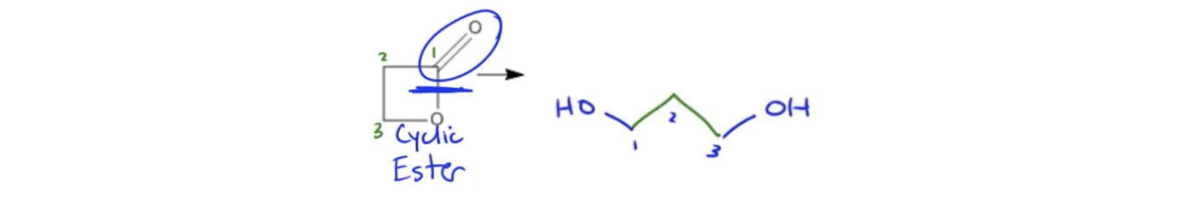 Diols via Reduction of Cyclic Esters