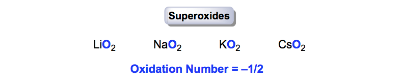 Oxidation-Number-Superoxides