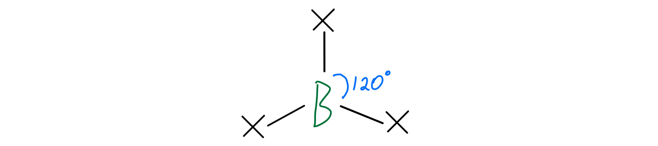 Boron bond angles