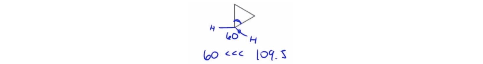 Cyclopropane Bond Angles