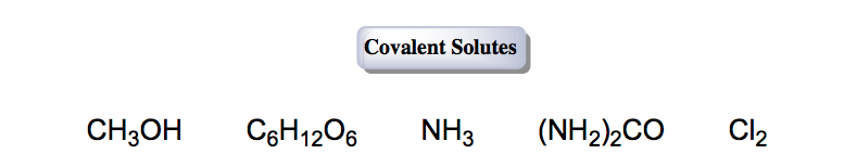 Covalent-solutes-nonelectrolyte