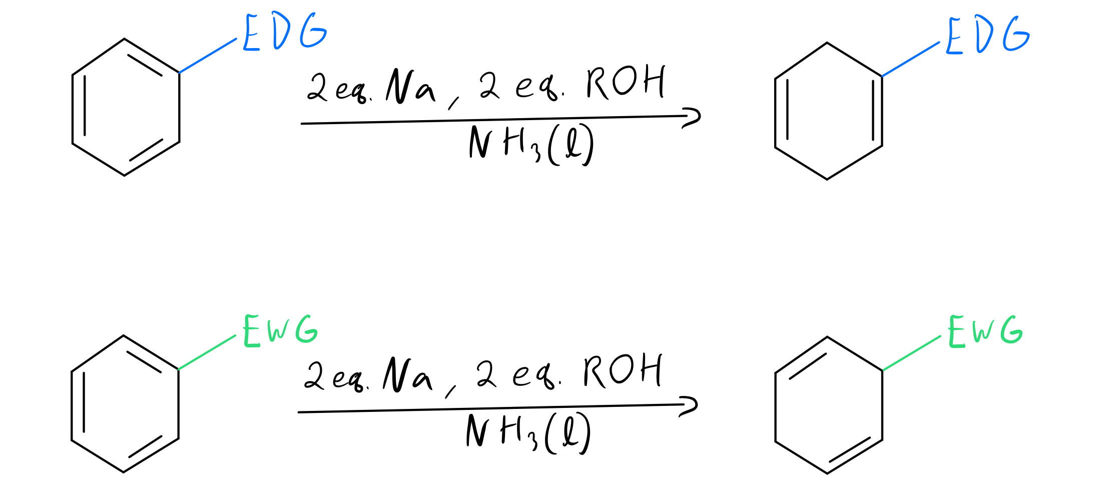 Birch reduction generic substituents