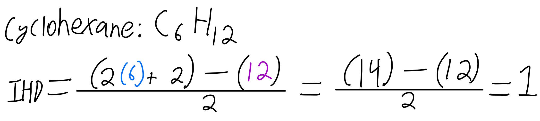 IHD cyclohexane formula