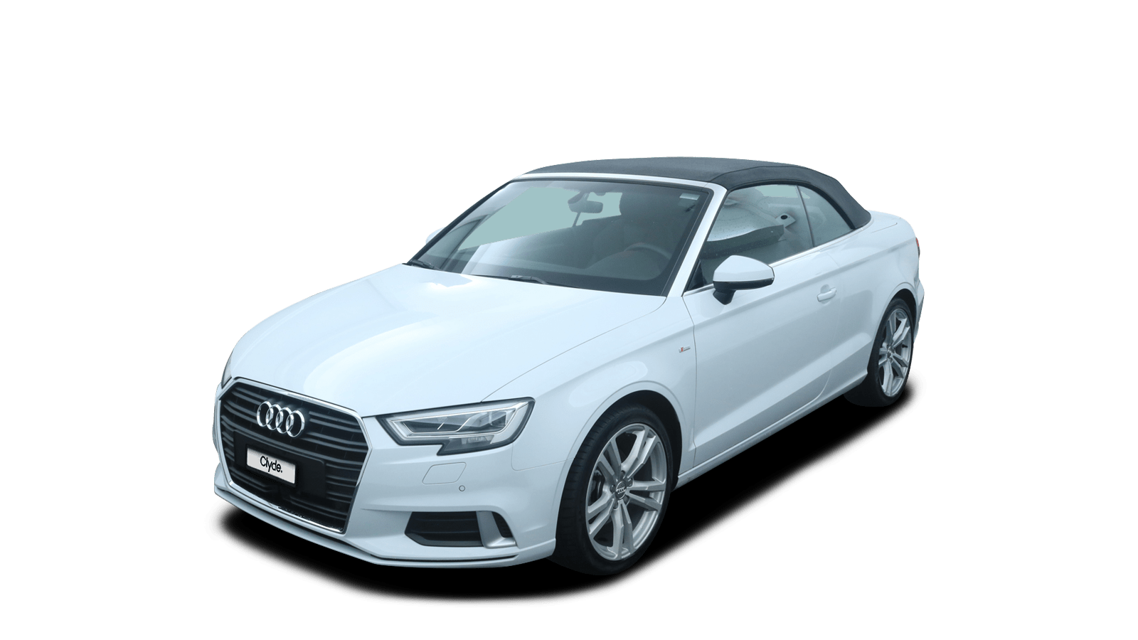Audi A3 Cabriolet White front - Clyde car subscription