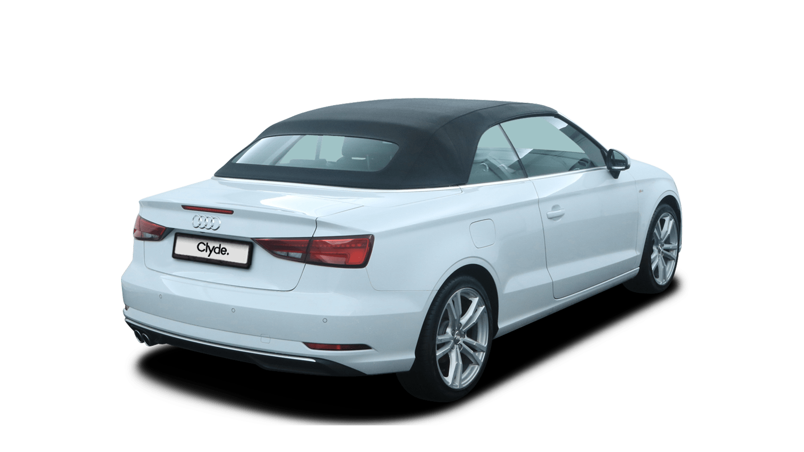 Audi A3 Cabriolet White back - Clyde car subscription