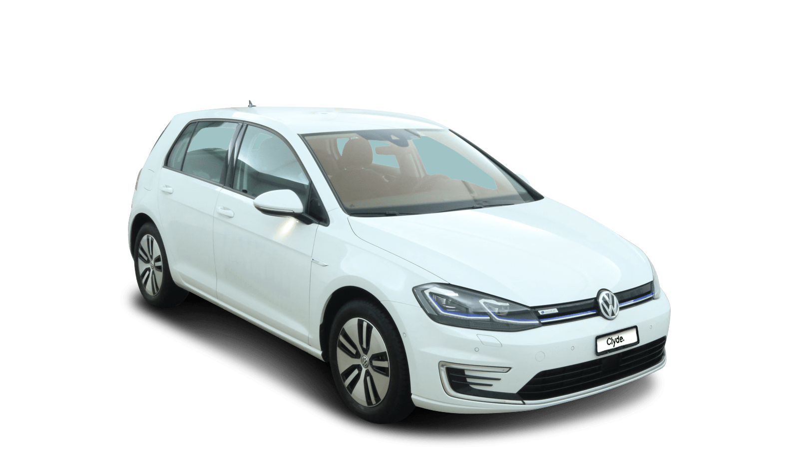 VW e-Golf White front - Clyde car subscription