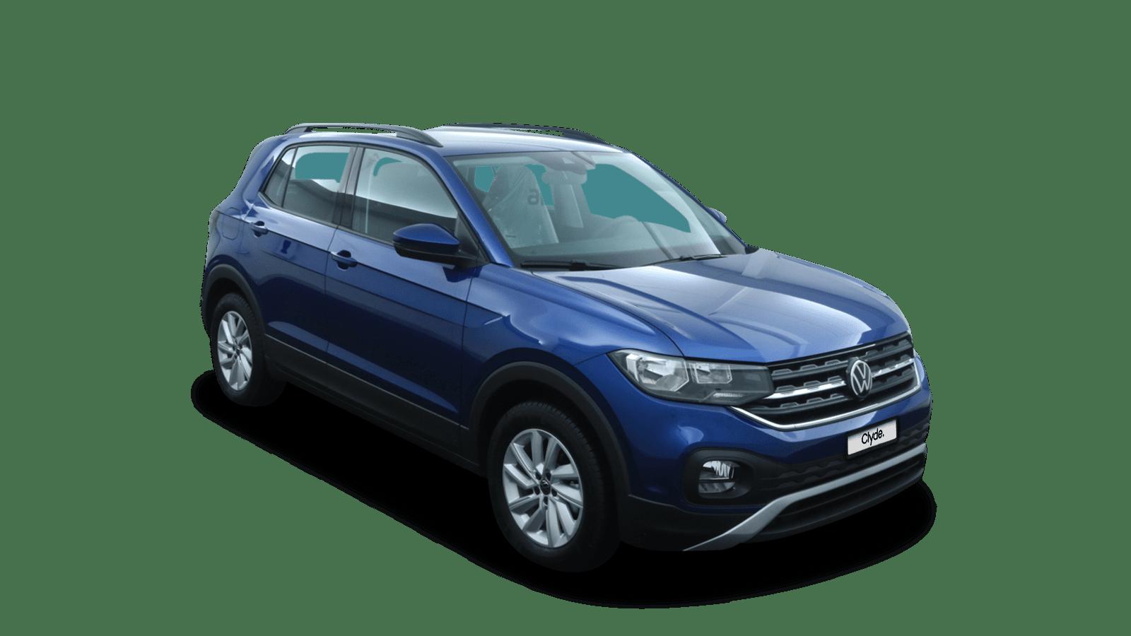 VW T-Cross Blau front - Clyde Auto-Abo