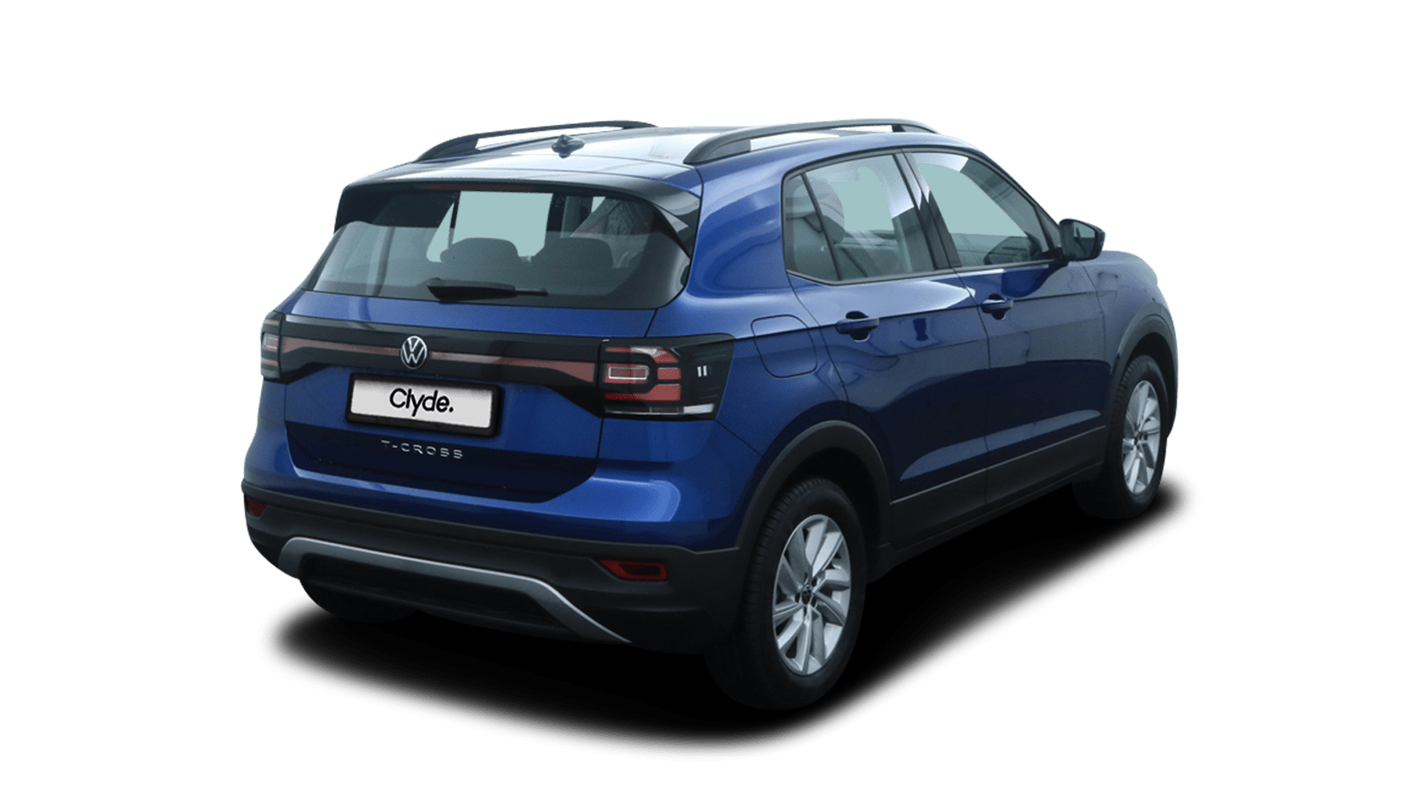 VW T-Cross Blau rückansicht - Clyde Auto-Abo