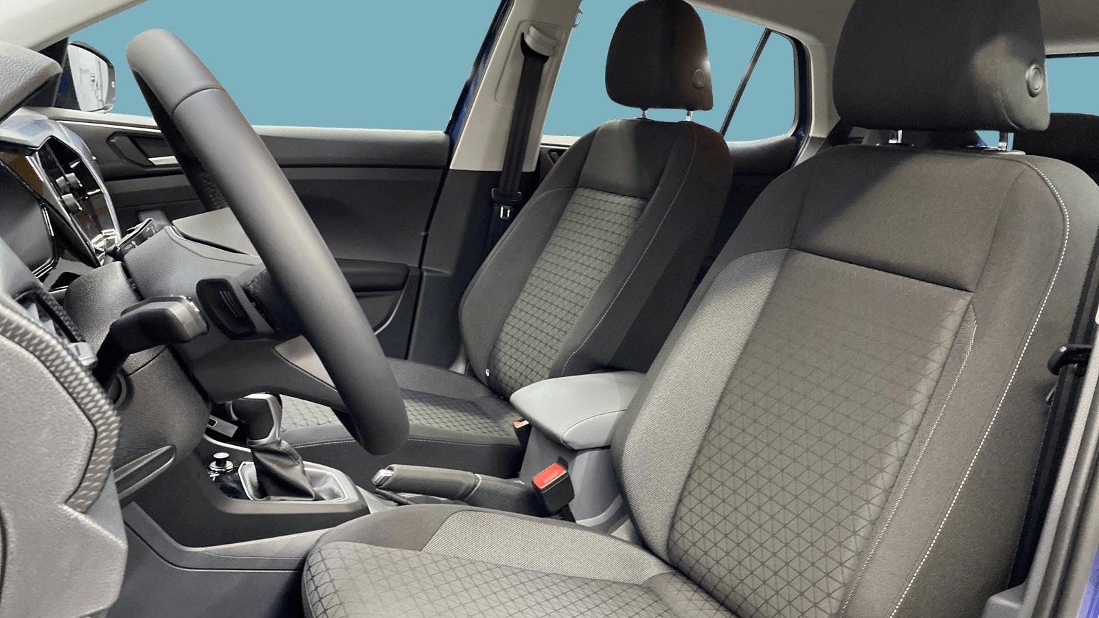 VW T-Cross Blau interior - Clyde Auto-Abo