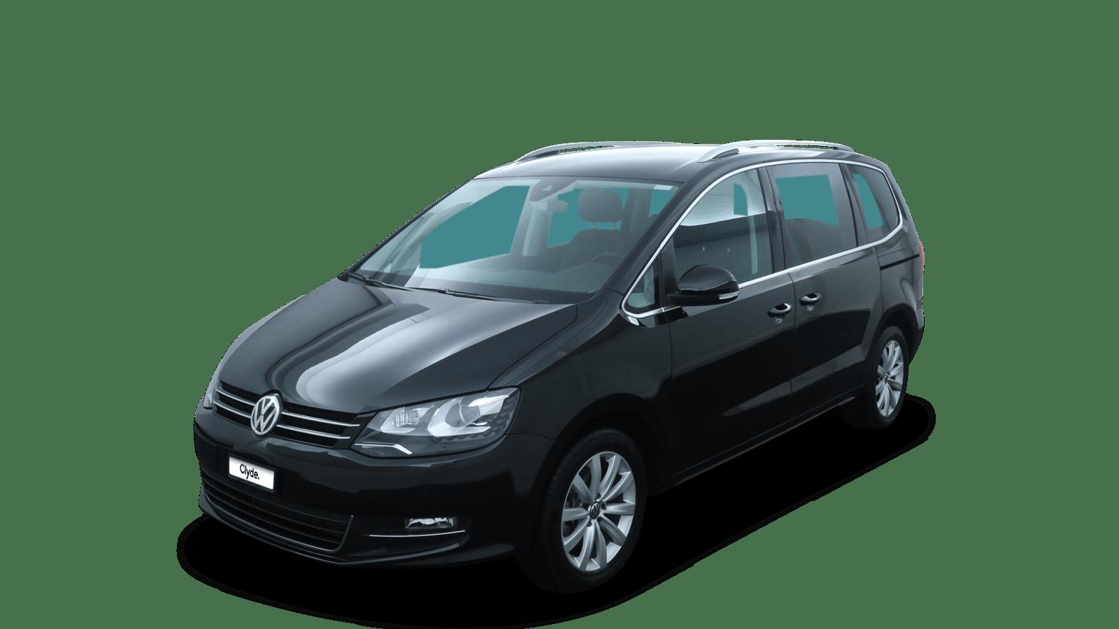 VW Sharan Schwarz front - Clyde Auto-Abo