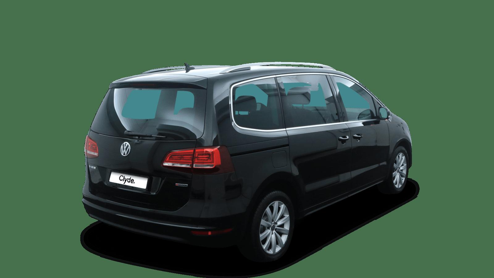 VW Sharan Schwarz rückansicht - Clyde Auto-Abo