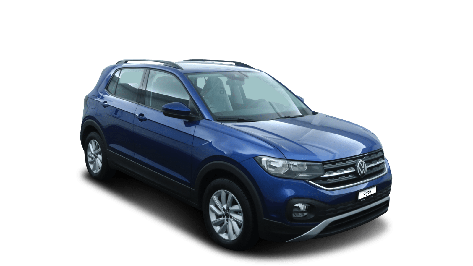 VW T-Cross Blau front - Clyde Auto-Abo