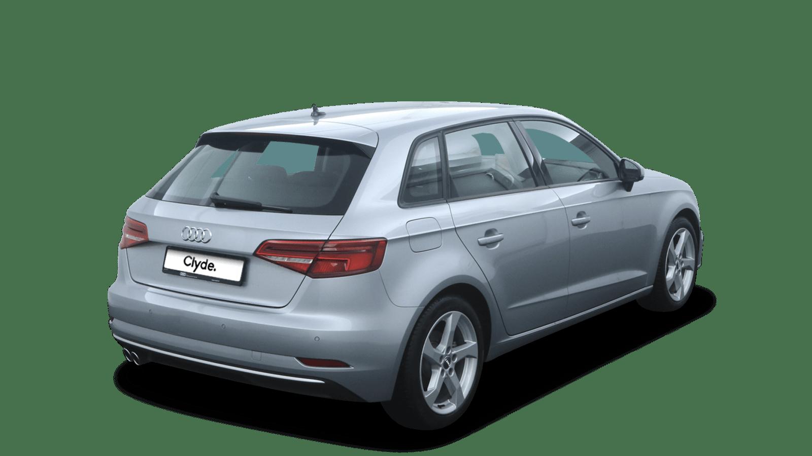 Audi A3 Sportback Silver back - Clyde car subscription