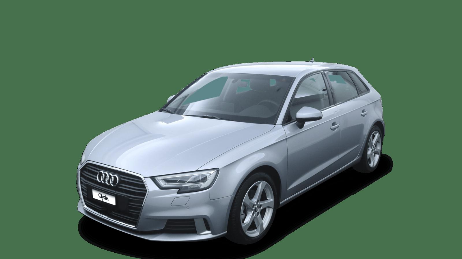 Audi A3 Sportback Silver front - Clyde car subscription