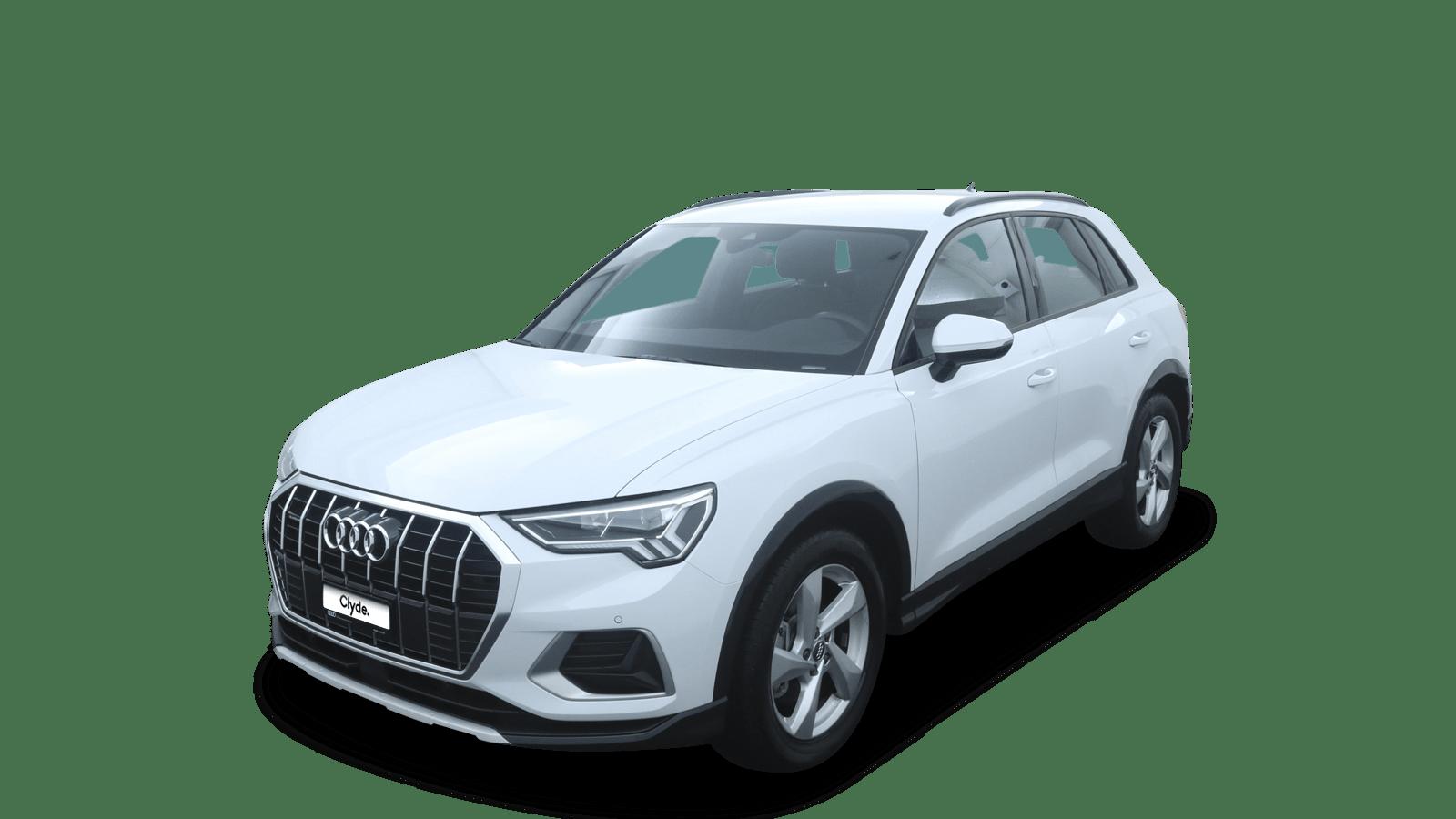 Audi Q3 White front - Clyde car subscription
