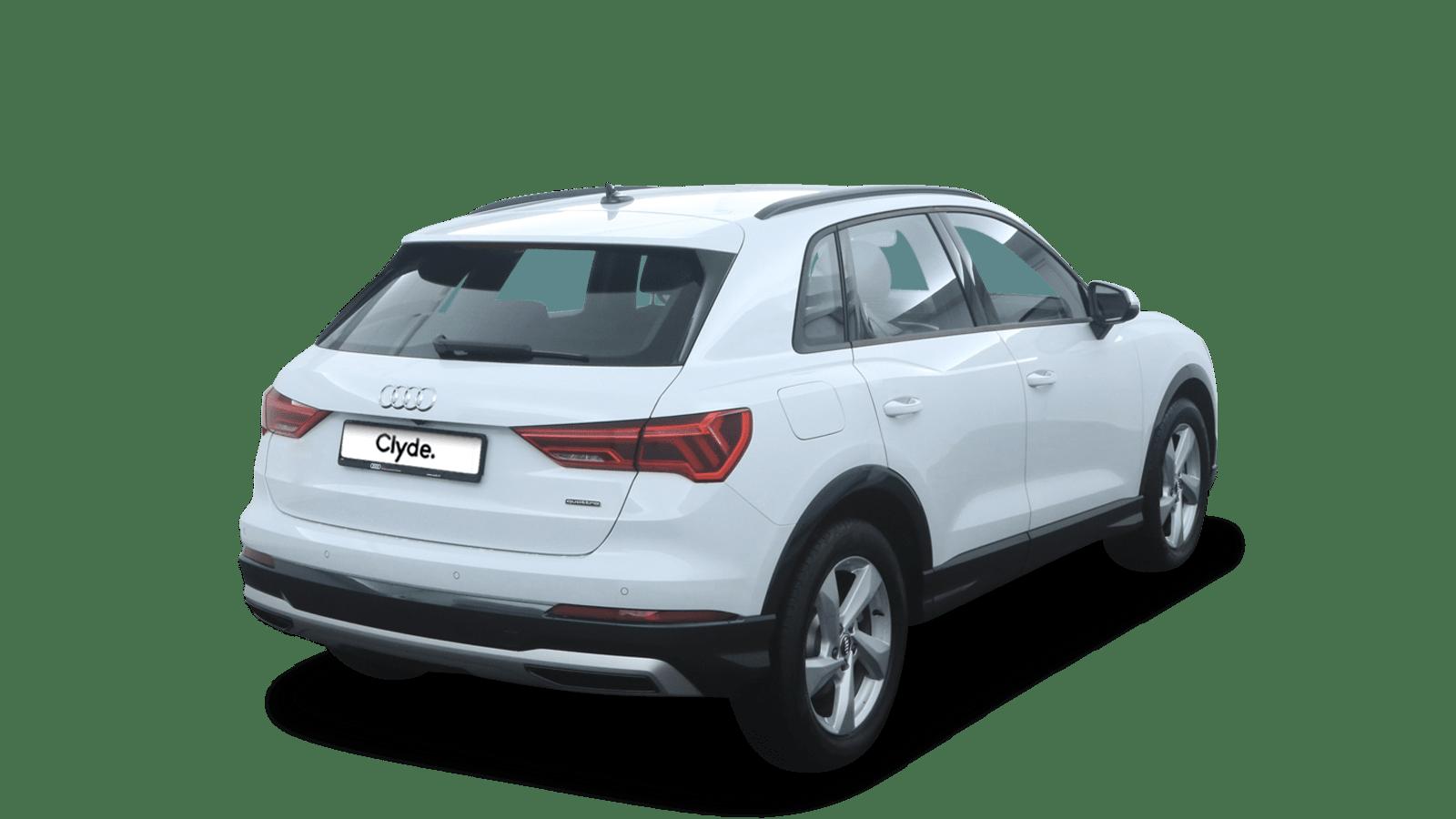 Audi Q3 White back - Clyde car subscription