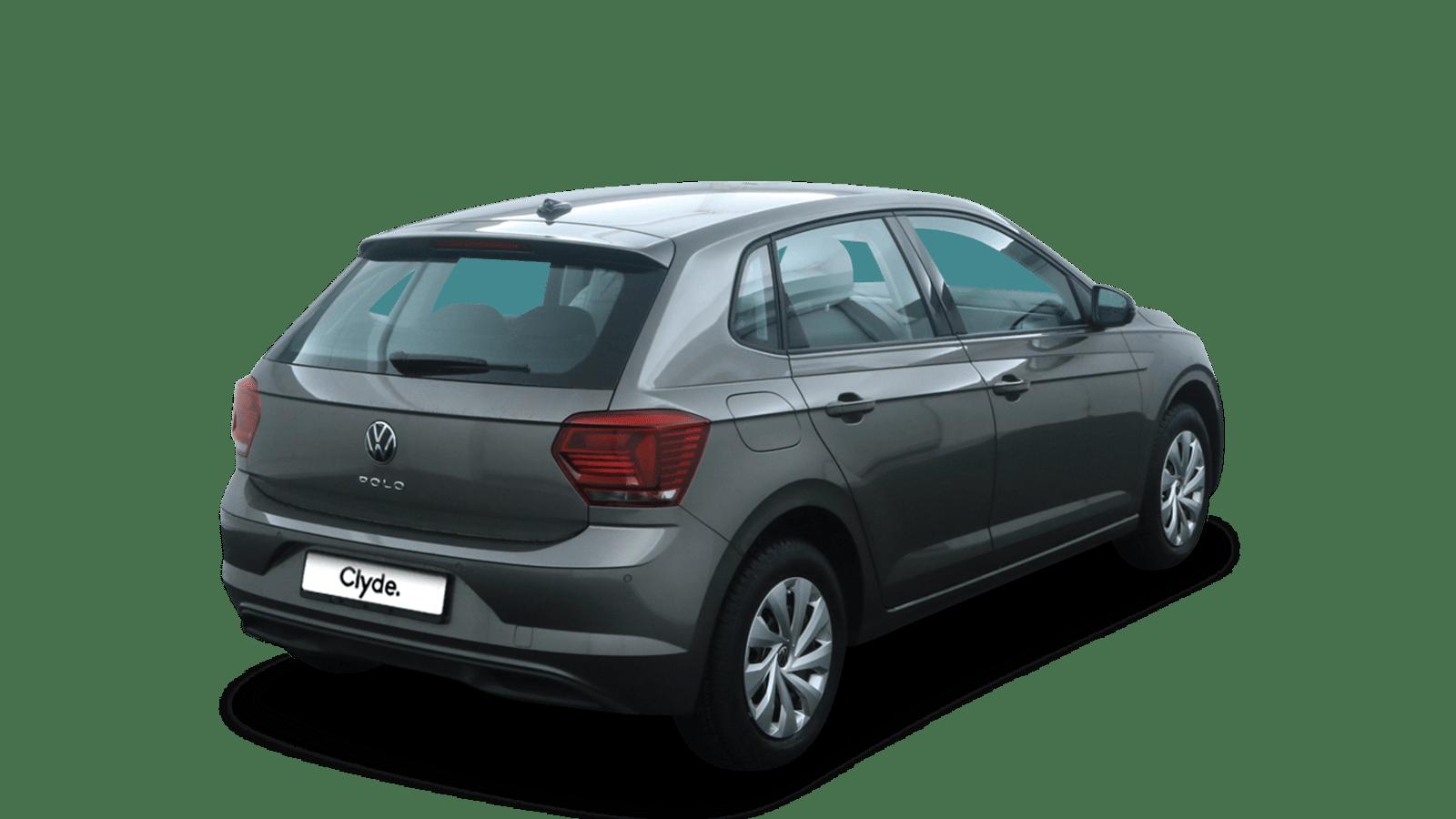 VW Polo Grau rückansicht - Clyde Auto-Abo