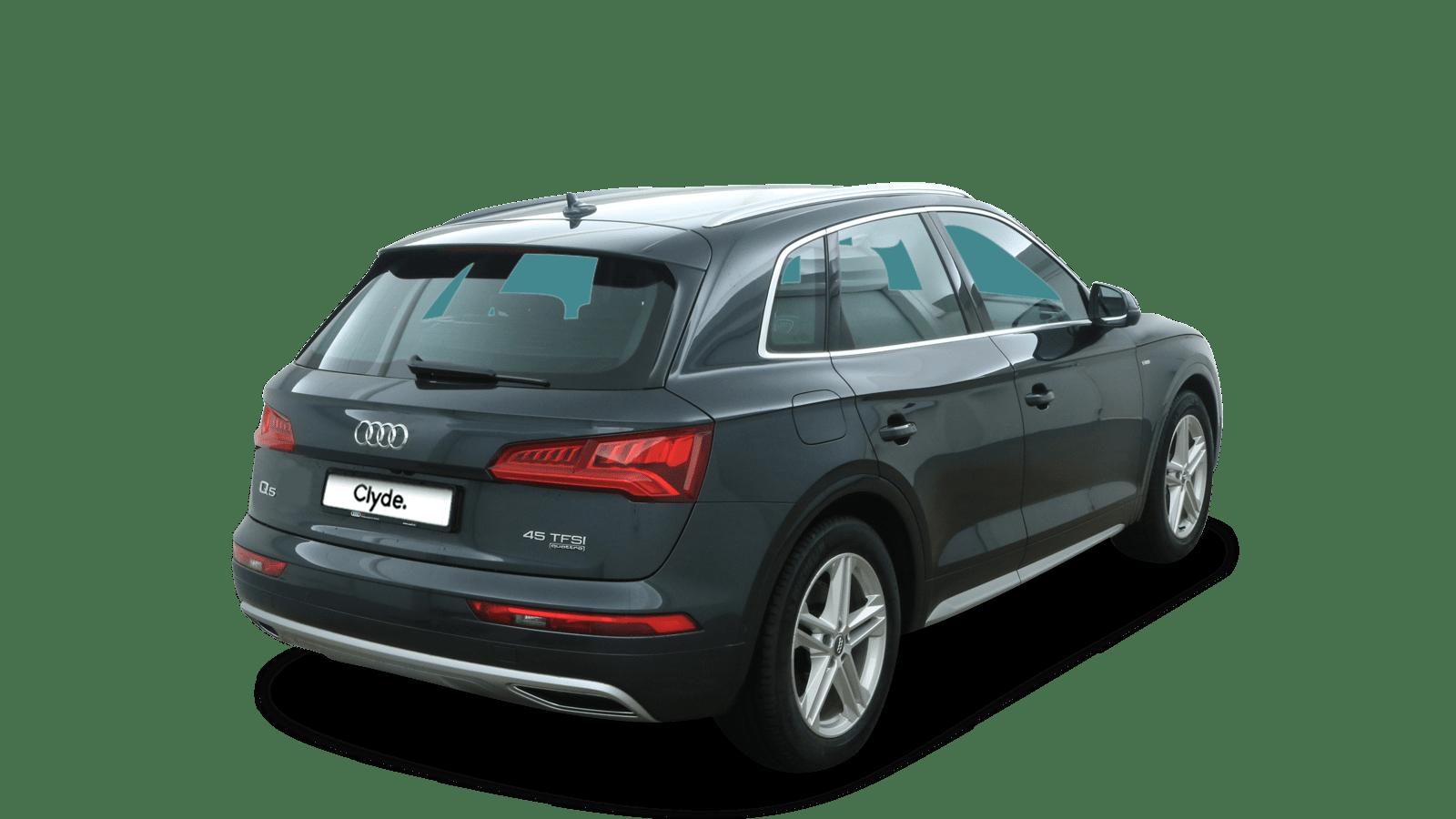 Audi Q5 Grau rückansicht - Clyde Auto-Abo