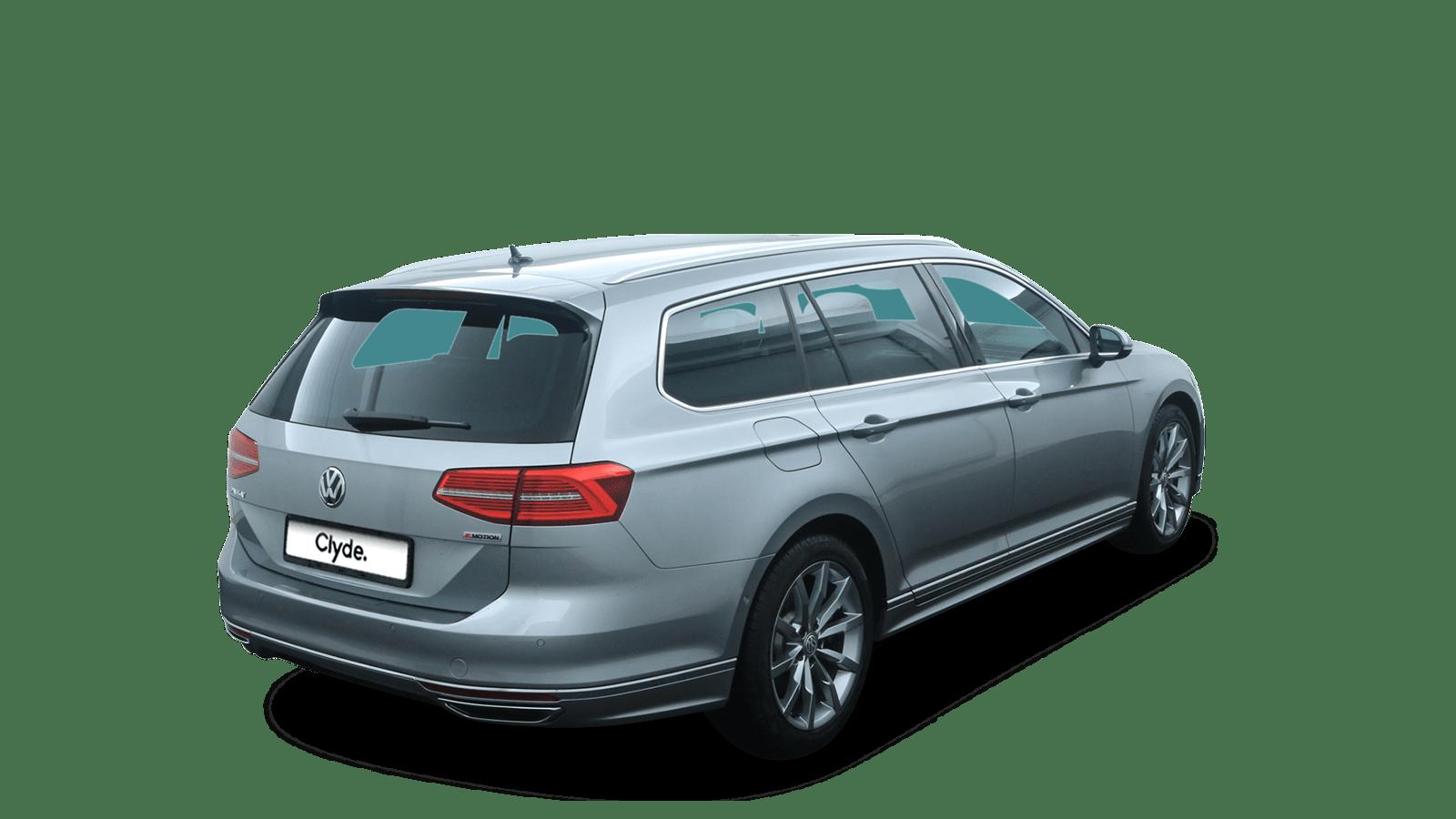 VW Passat Variant Silber rückansicht - Clyde Auto-Abo