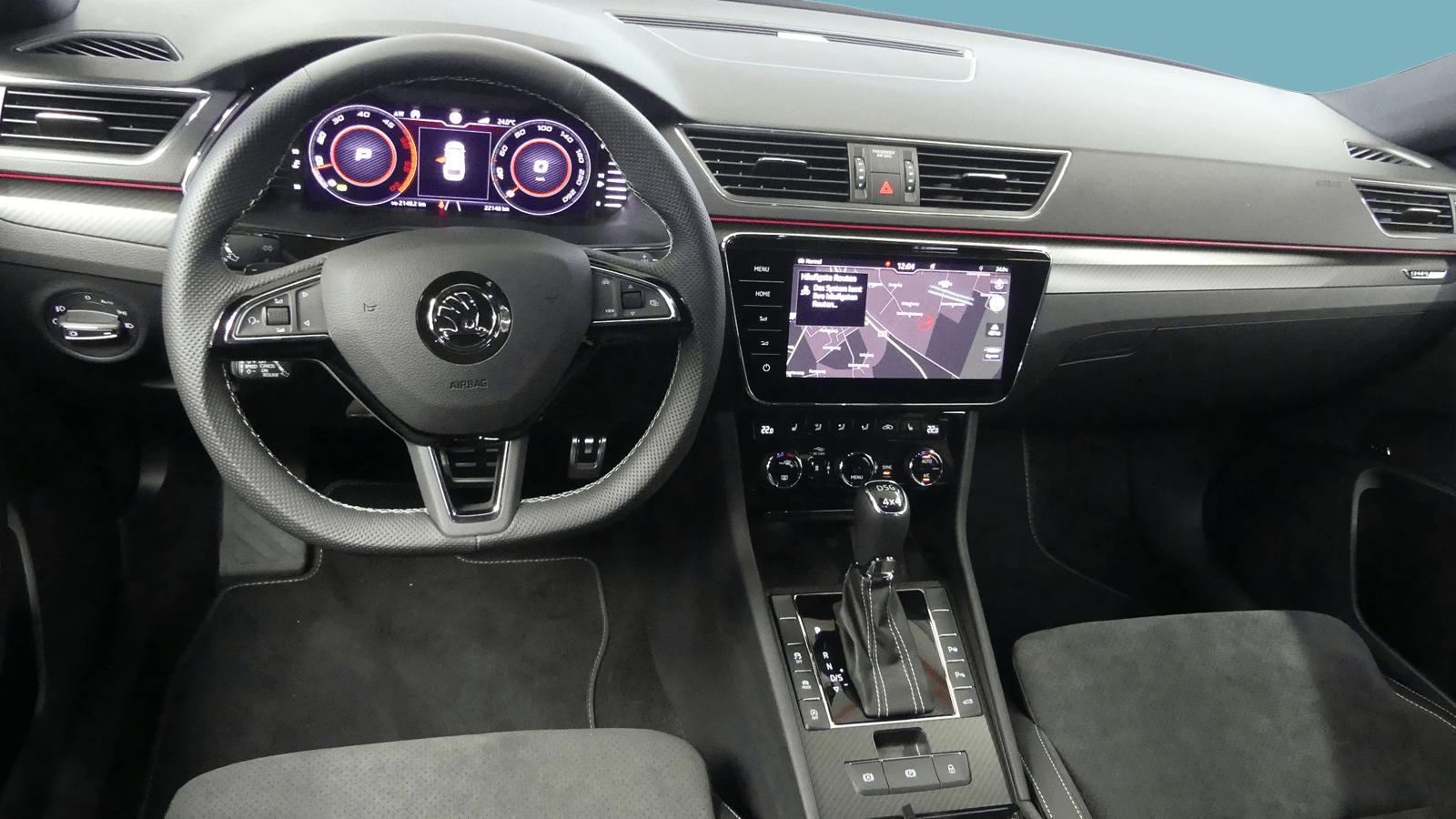 ŠKODA Superb Grau interior - Clyde Auto-Abo