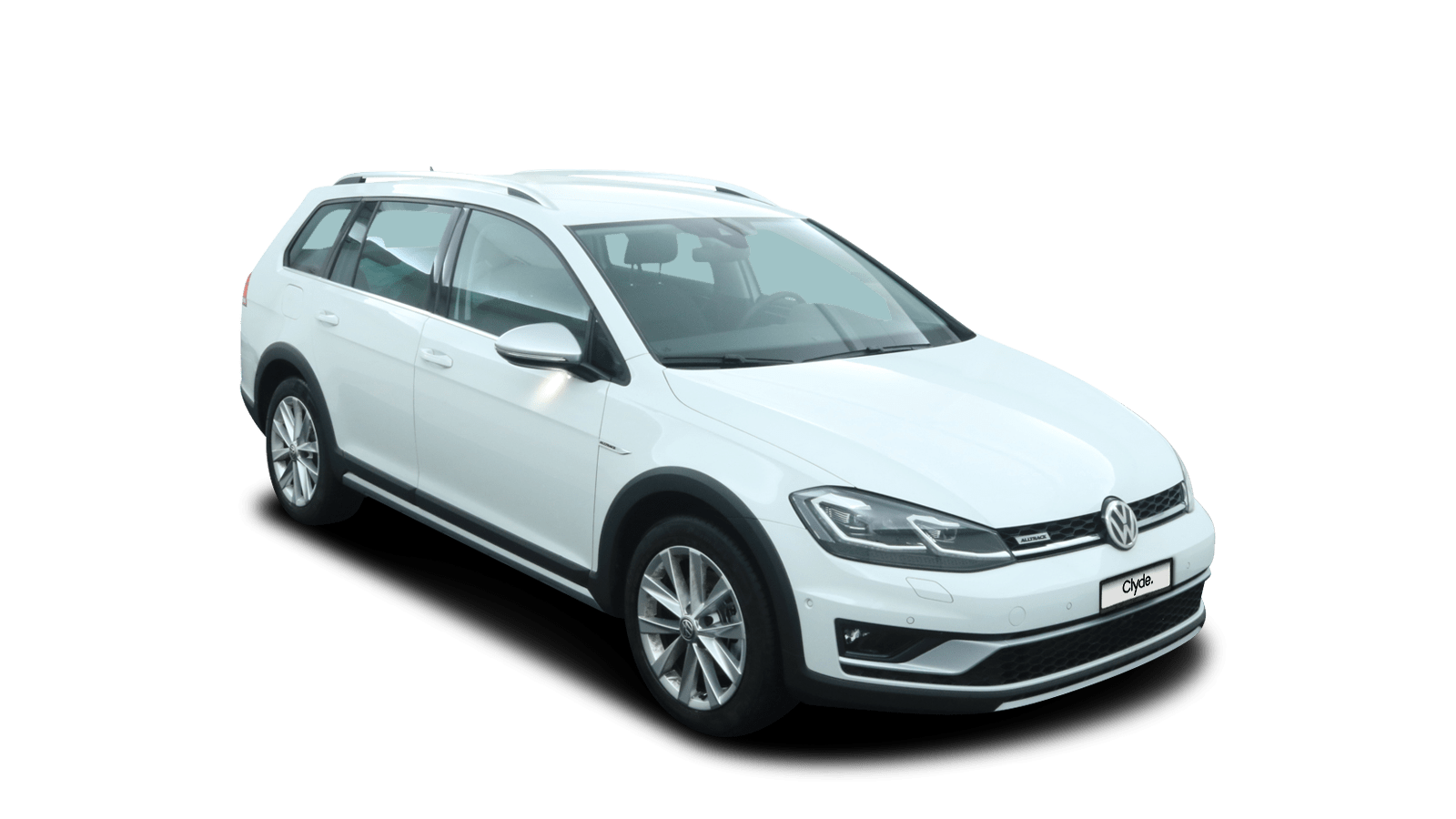 VW Golf Variant Alltrack White front - Clyde car subscription