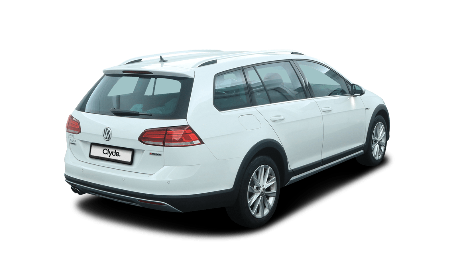VW Golf Variant Alltrack White back - Clyde car subscription