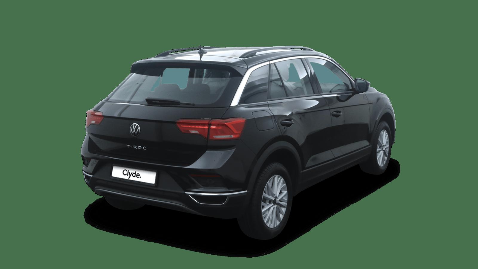 VW T-Roc Schwarz rückansicht - Clyde Auto-Abo
