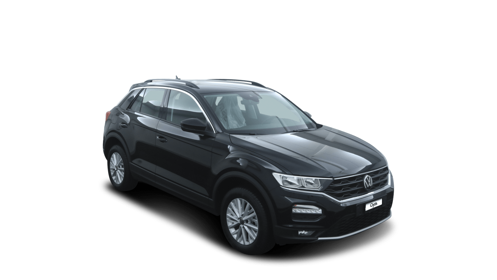 VW T-Roc Schwarz front - Clyde Auto-Abo