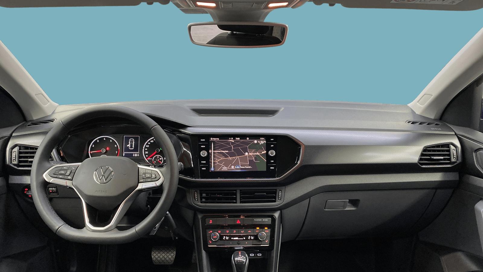 VW T-Cross Blue interior - Clyde car subscription