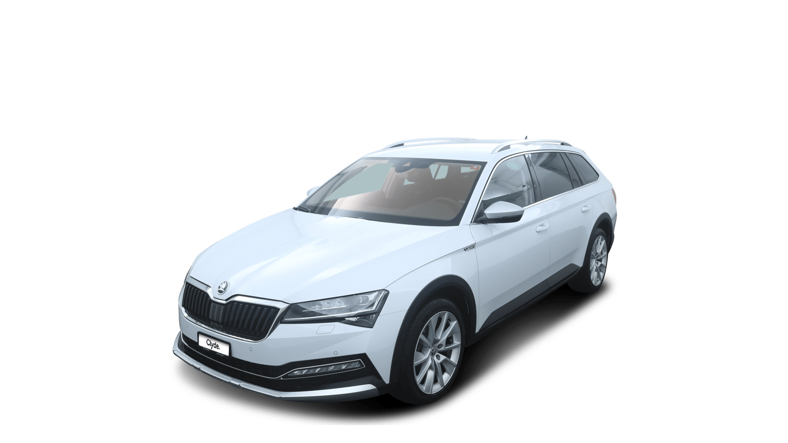 ŠKODA Superb Weiss front - Clyde Auto-Abo