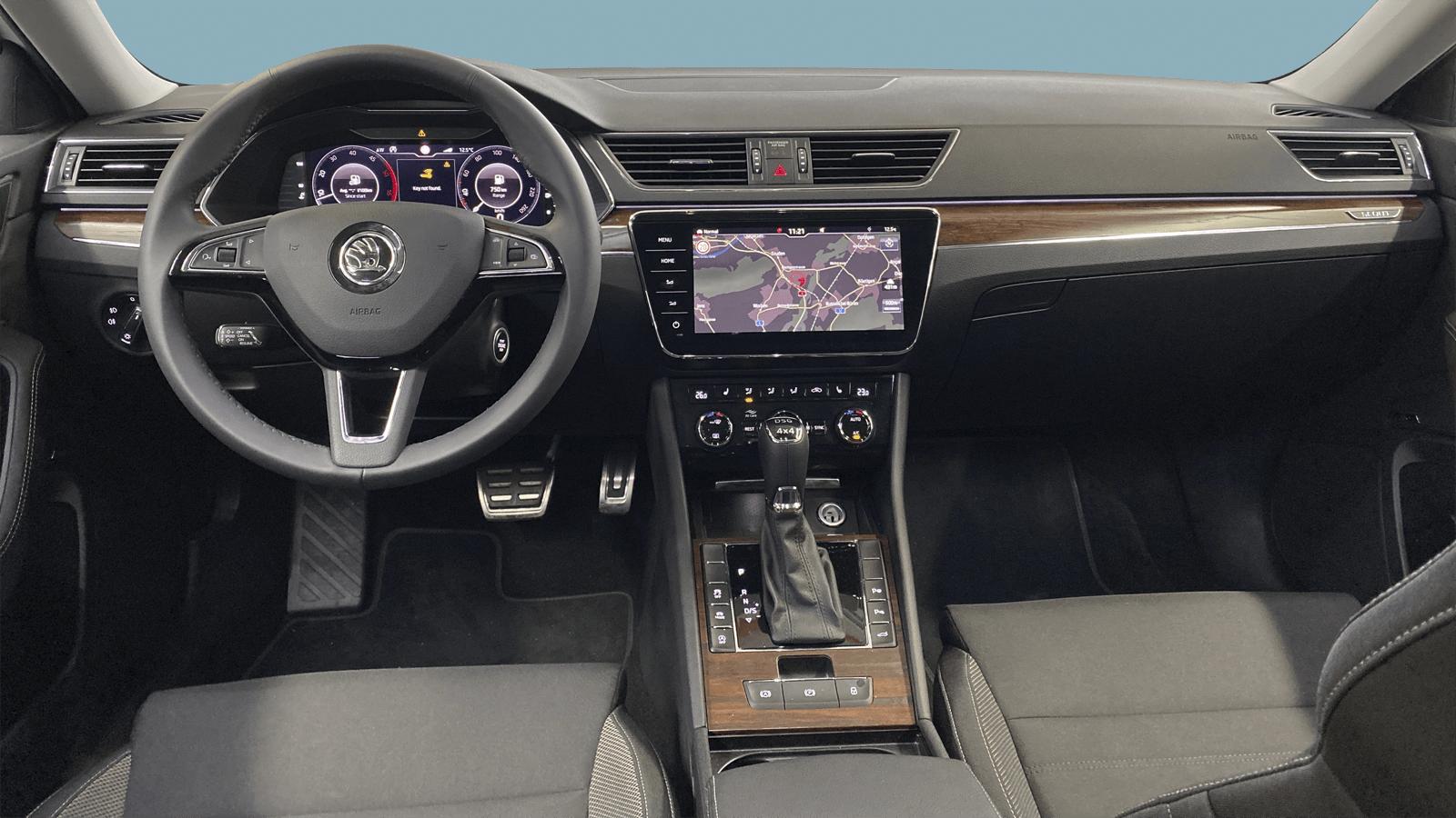 ŠKODA Superb White interior - Clyde car subscription