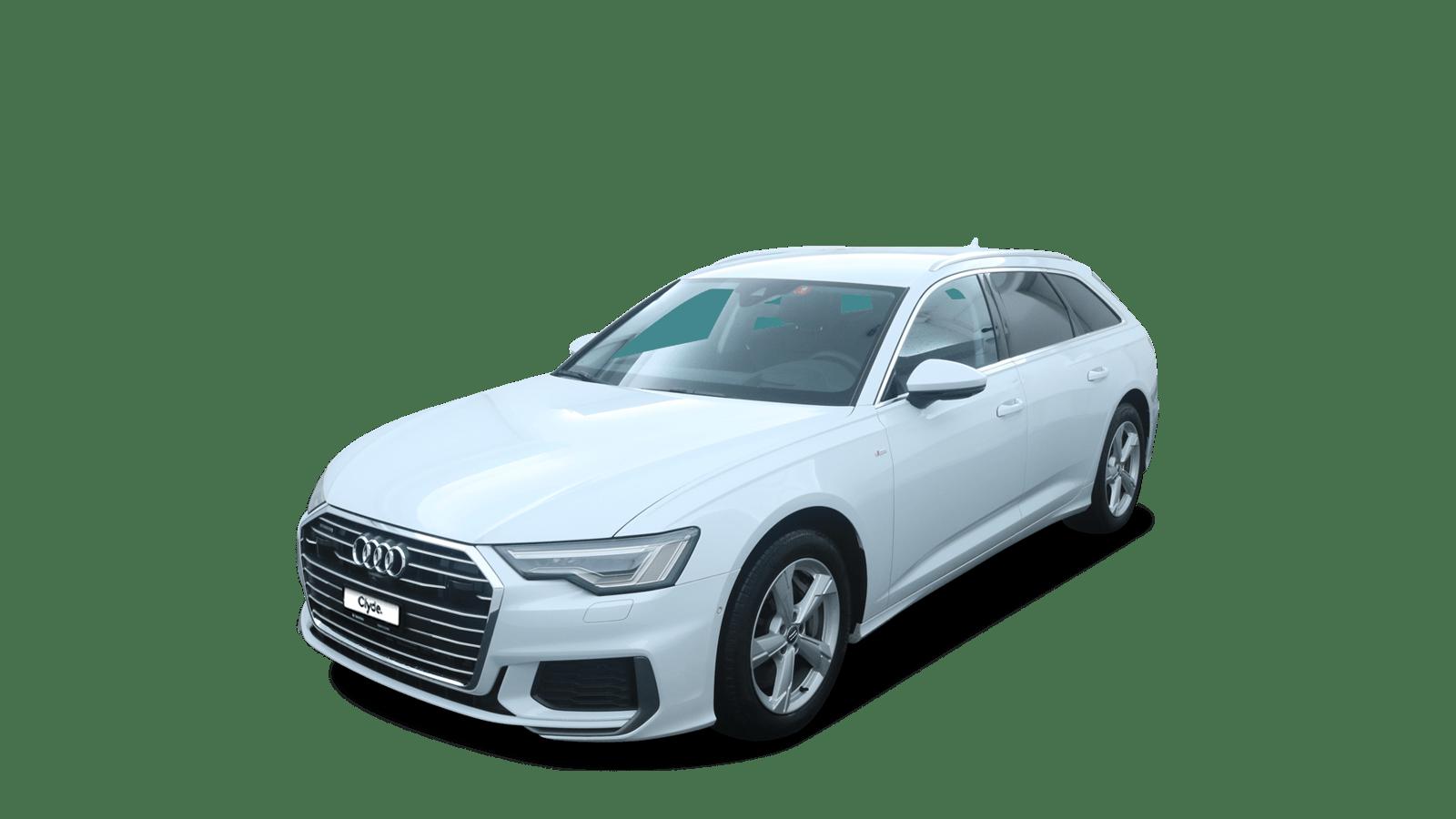 Audi A6 Avant White front - Clyde car subscription