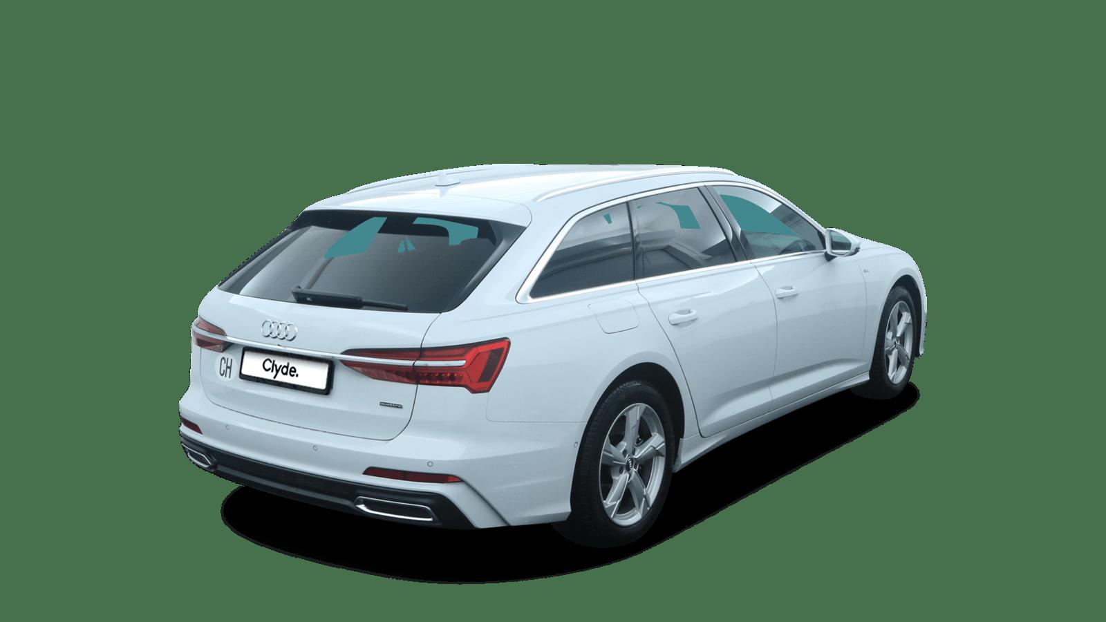 Audi A6 Avant White back - Clyde car subscription