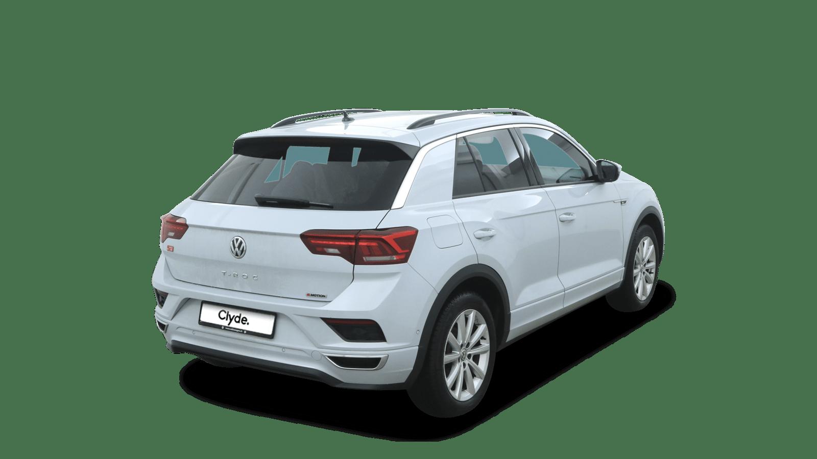 VW T-Roc White back - Clyde car subscription