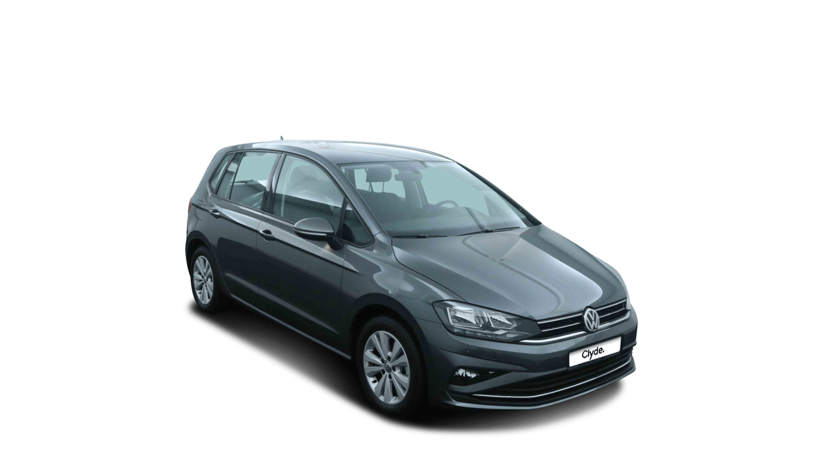 VW Golf Sportsvan Grey front - Clyde car subscription