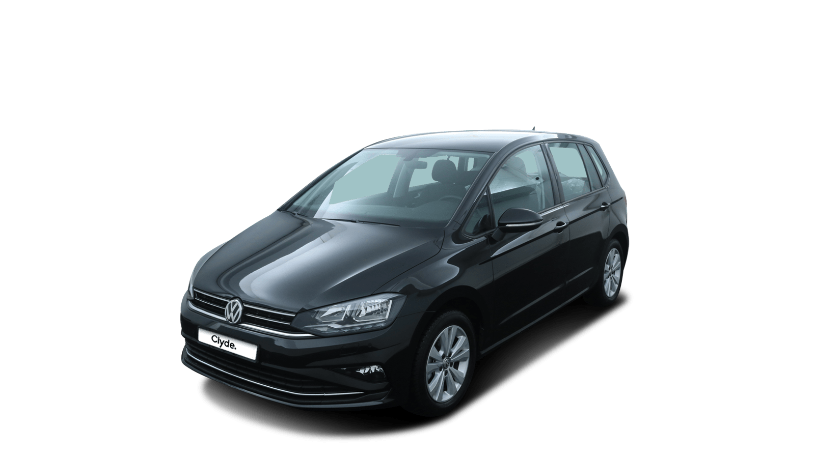 VW Golf Sportsvan Black front - Clyde car subscription
