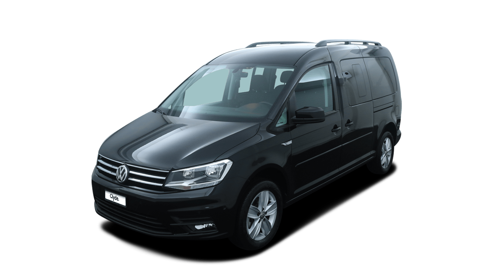 VW Caddy Maxi Black front - Clyde car subscription