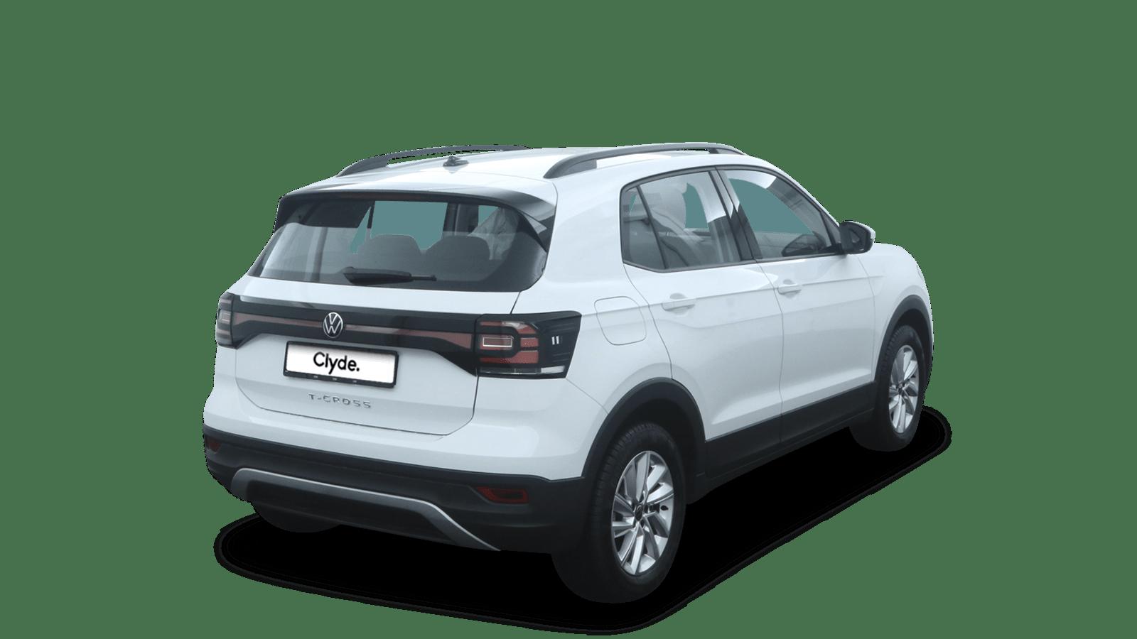 VW T-Cross White back - Clyde car subscription