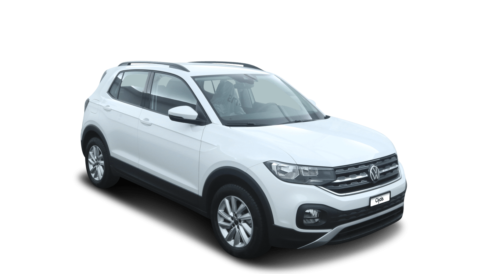 VW T-Cross Weiss front - Clyde Auto-Abo