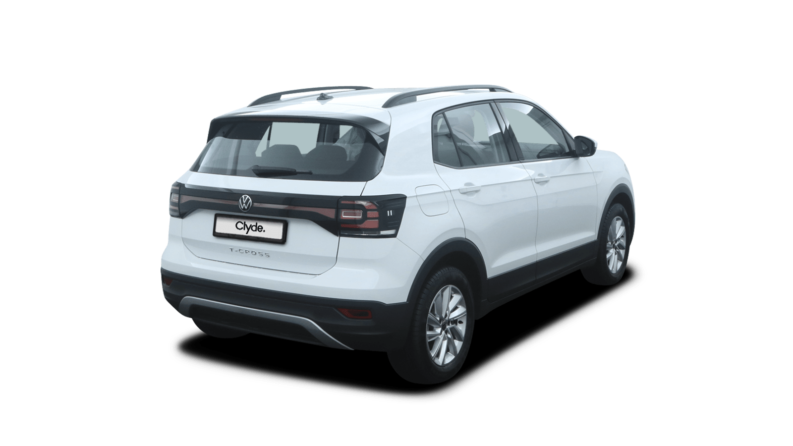 VW T-Cross White back - Clyde car subscription