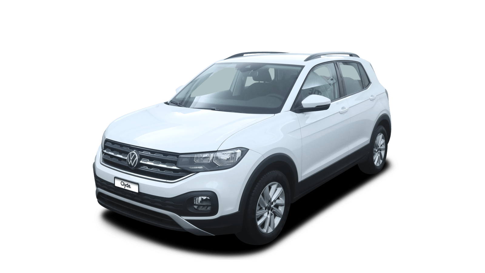 VW T-Cross White front - Clyde car subscription