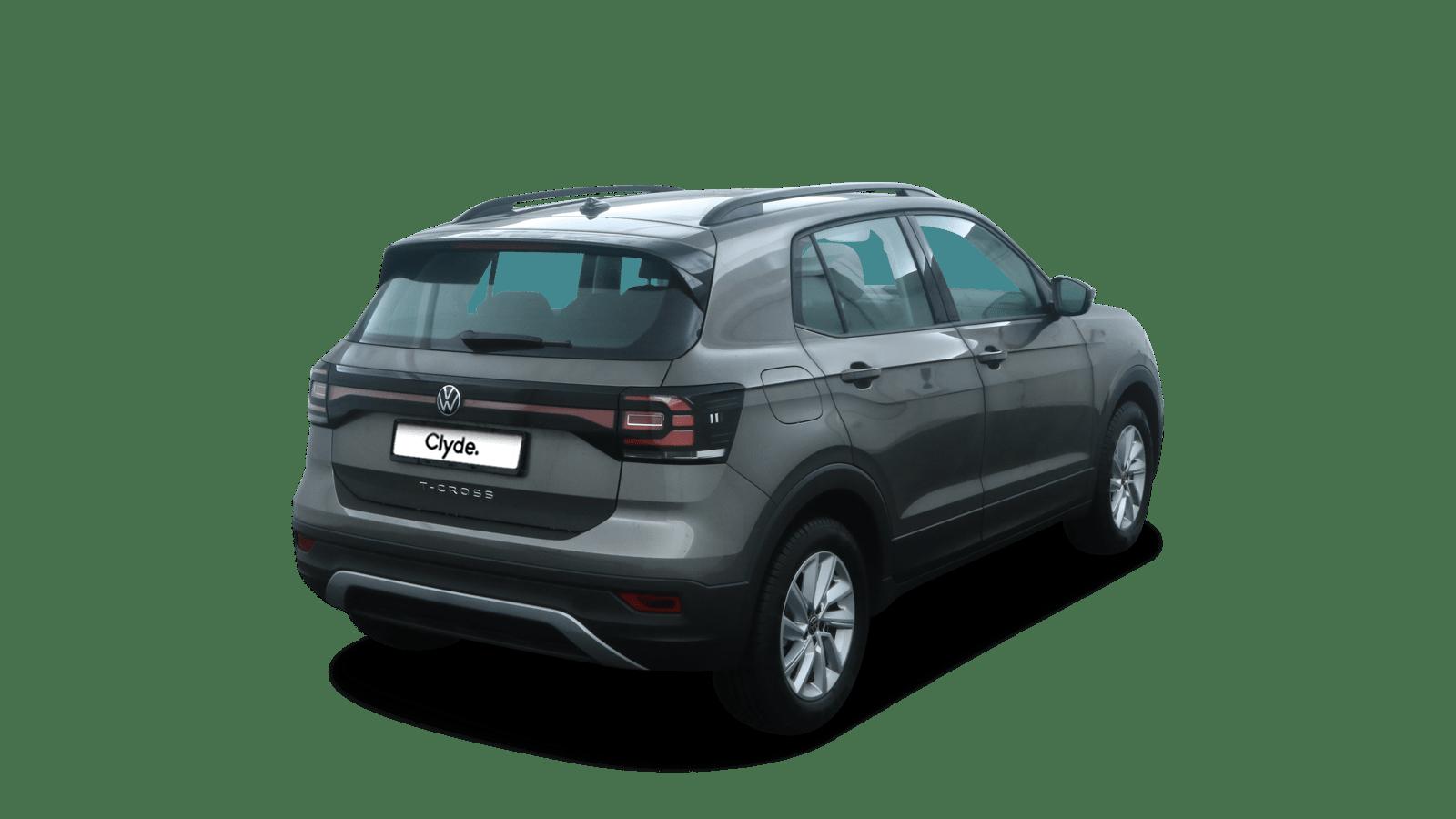 VW T-Cross Grau rückansicht - Clyde Auto-Abo