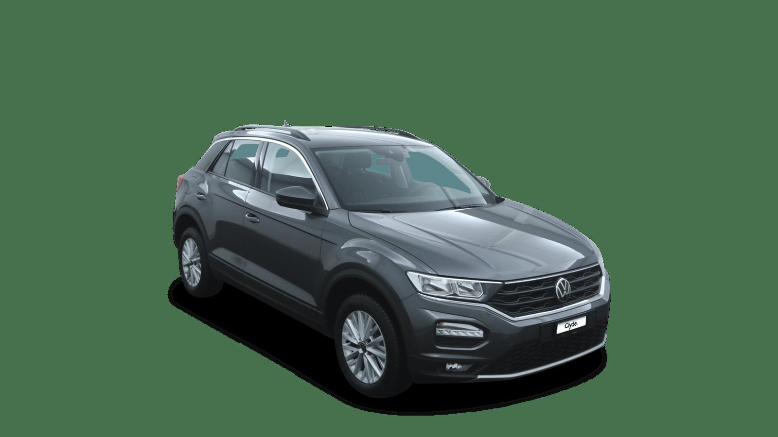 VW T-Roc Grey front - Clyde car subscription