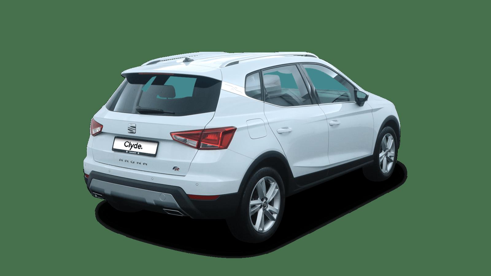 SEAT Arona Weiss rückansicht - Clyde Auto-Abo