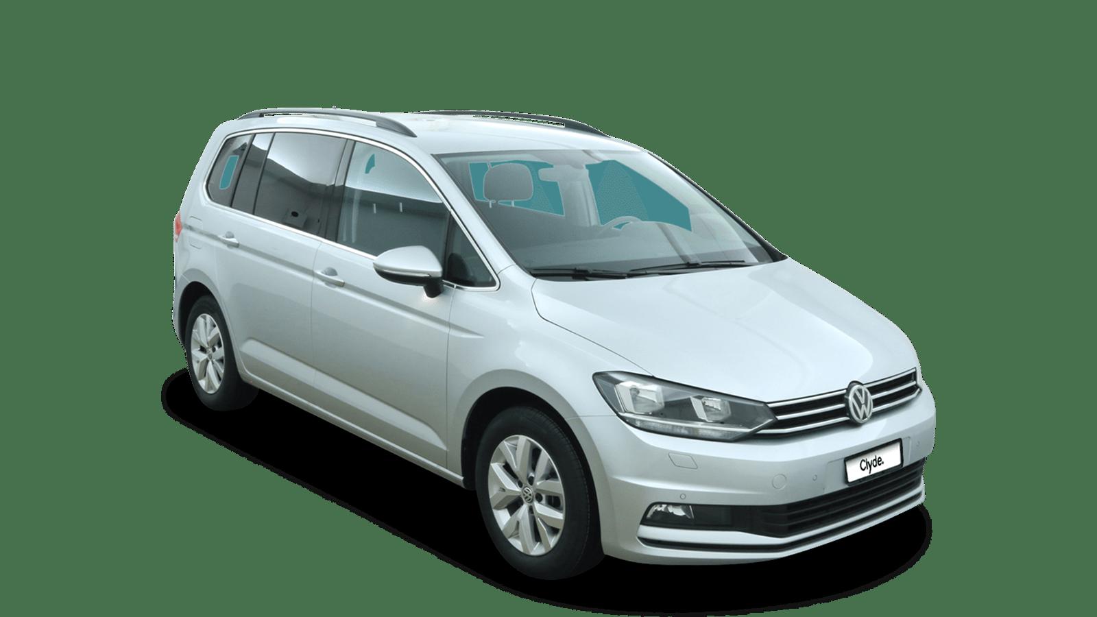VW Touran Silver front - Clyde car subscription