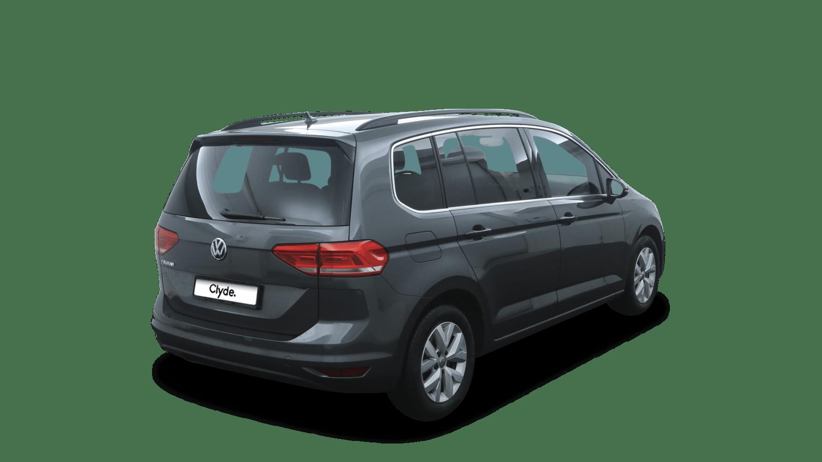 VW Touran Grau rückansicht - Clyde Auto-Abo