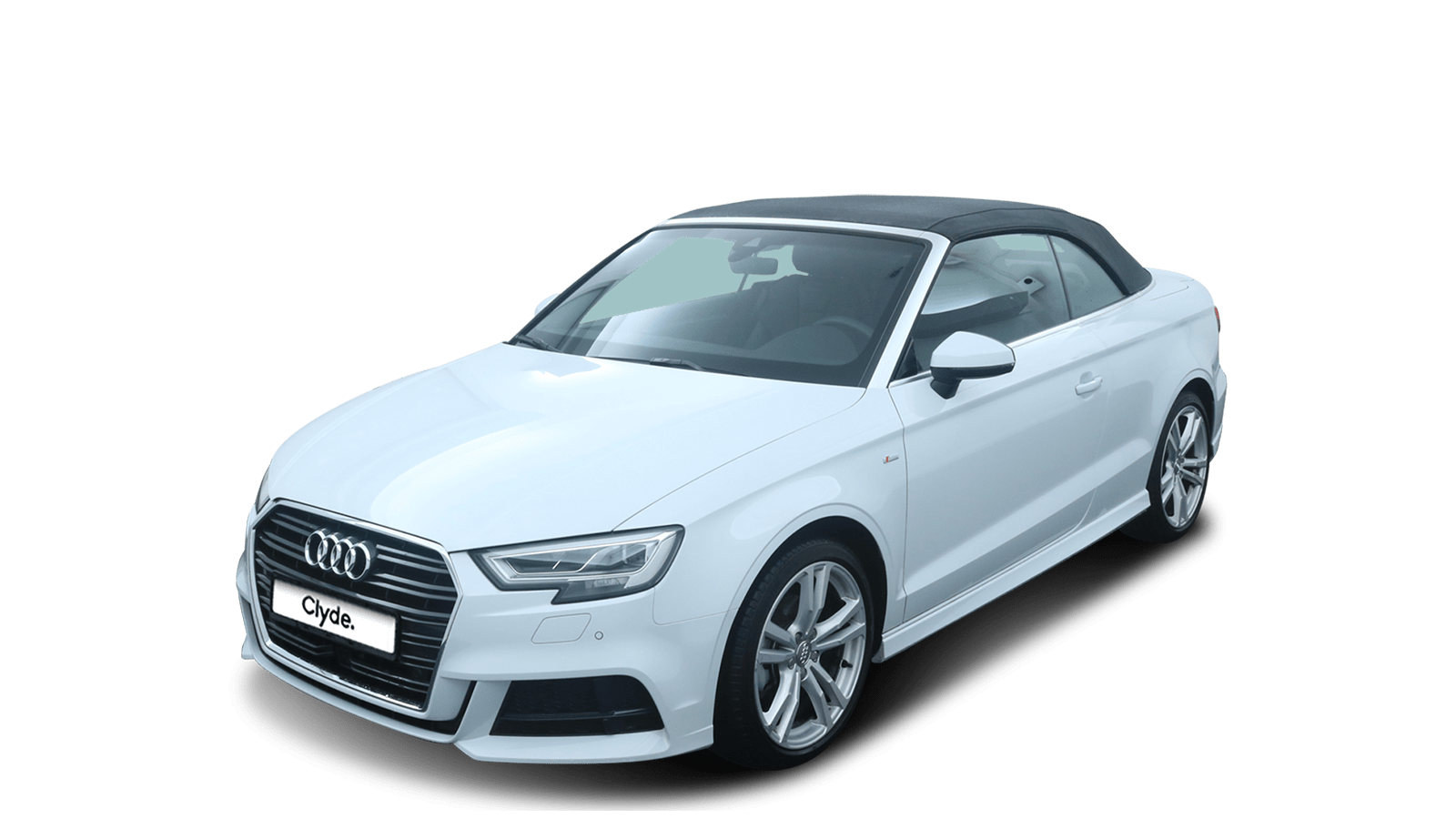 Audi A3 Cabriolet Weiss front - Clyde Auto-Abo
