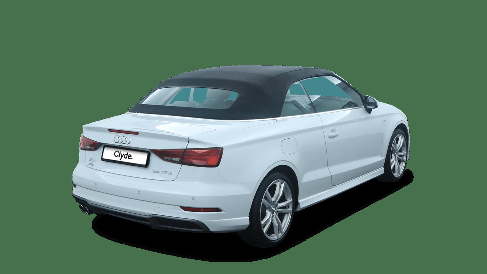 Audi A3 Cabriolet Weiss rückansicht - Clyde Auto-Abo
