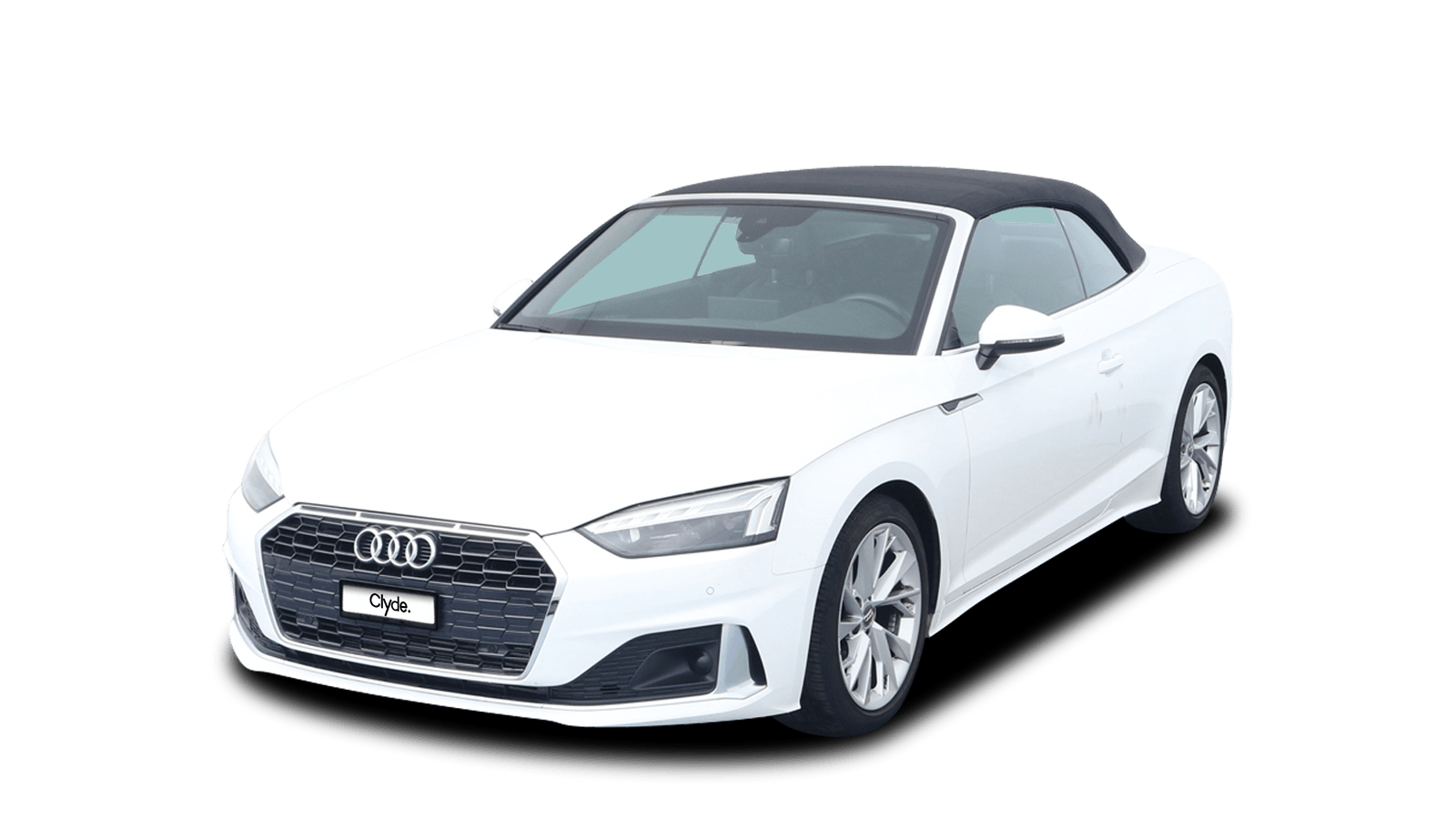 Audi A5 Cabriolet Weiss front - Clyde Auto-Abo